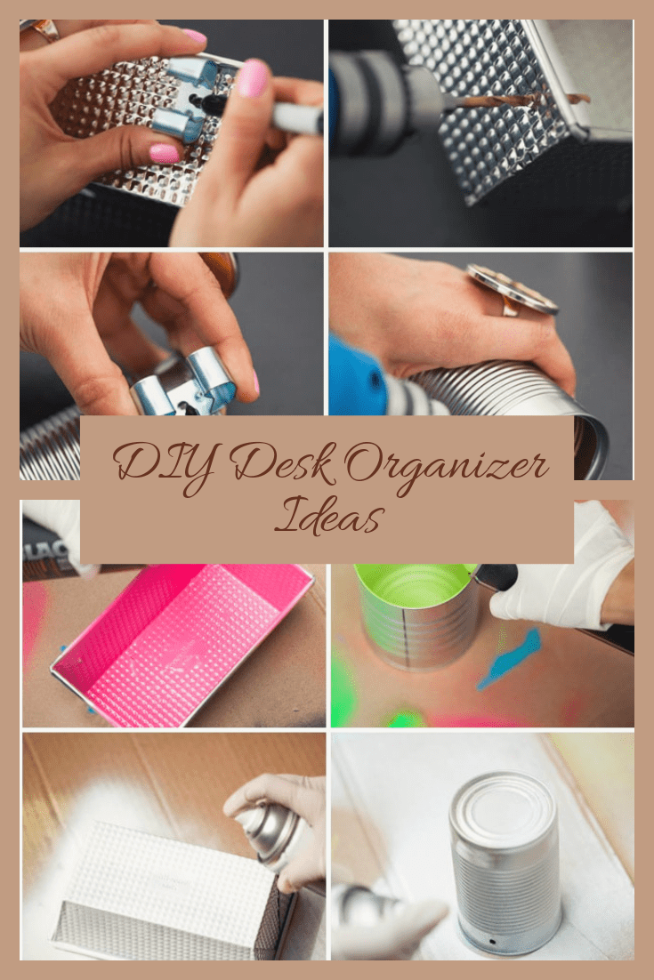 diy desk organization and storage ideas