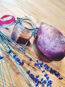 Süßkartoffelstreifen mit Zimt-Zucker
