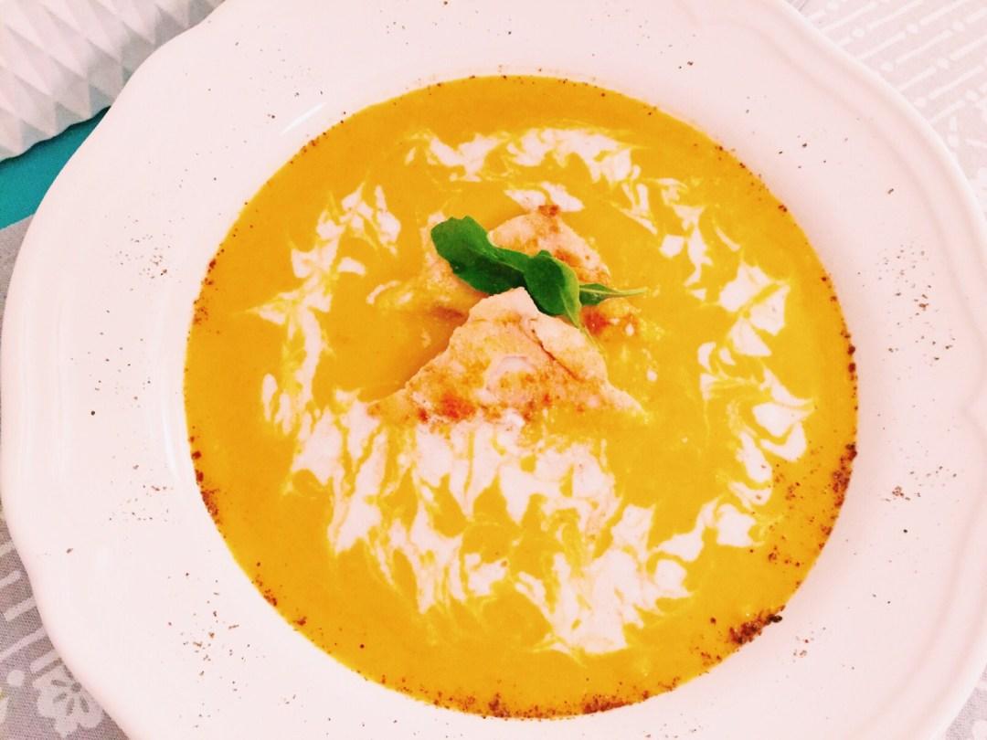 Suesskartoffel-Ingwer Suppe