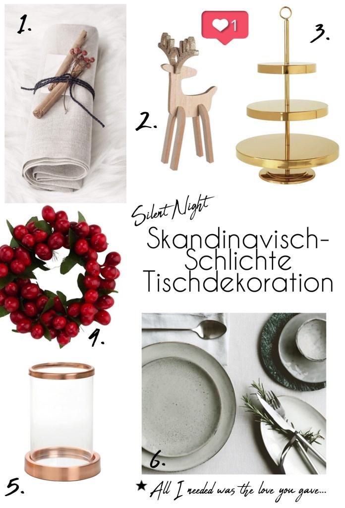 Collage Weihnachtstafel Skandi-Style