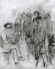 98 Beggar in Paris metro