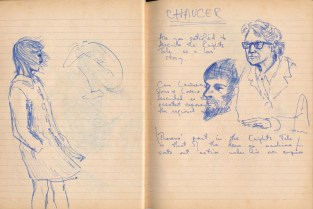 114 SB Sketch of D H Lawrence & the english teacher H