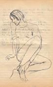 174 SB Poem draft & study of a girl