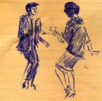 23 SB Disco dancers, detail