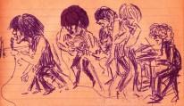 SB Caricature rock band H