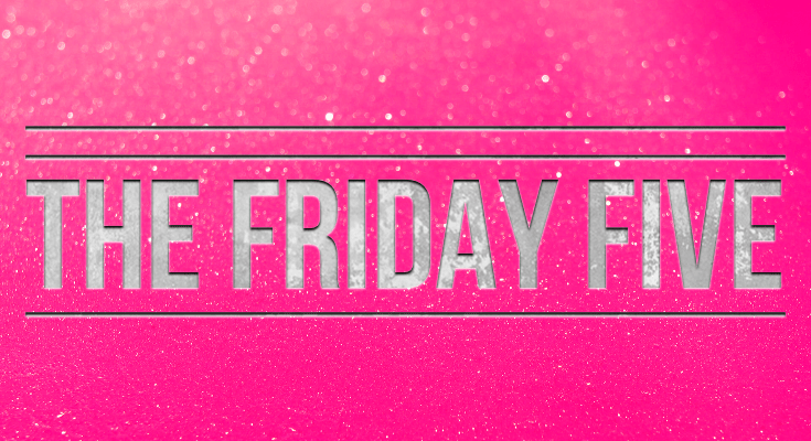 THE RECLUSIVE BLOGGER'S THE FRIDAY FIVE (ON SATURDAY)…