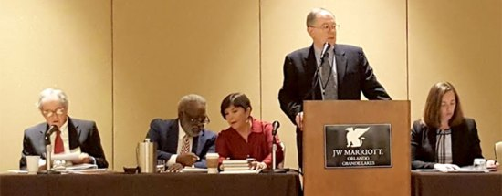 Henry M. Coxe, III; H.T. Smith; Professor Mary Adkins; Judge Darryl C. Casanueva, Kristin Norse.