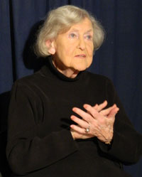 Norma Lewis is pictured signing for Mass of the Air in 2014.