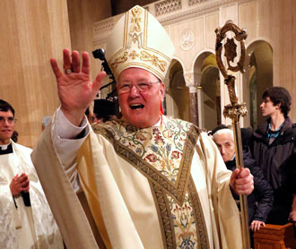 Cardinal Timothy M. Dolan of New York, pictured in January, will be the keynote speaker at the Salute to Catholic School Alumni March 16. (CNS Photo)