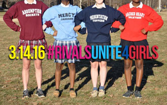 #RivalsUnited4Girls is a fundraising challenge to benefit Assumption High School, Mercy Academy, Presentation Academy and Sacred Heart Academy. (Photo Special to The Record)