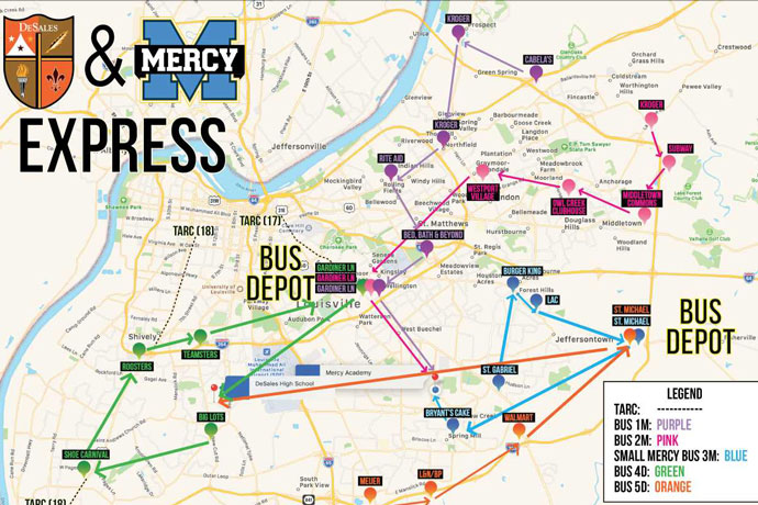 Mercy Academy, DeSales offer new bus routes | The Record