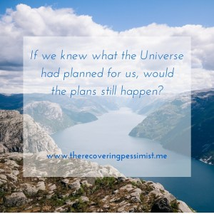 The Recovering Pessimist: If the Universe Provided a Head's Up --What would happen if the Universe gave us a head's up?   www.therecoveringpessimist.me #amwriting #recoveringpessimist