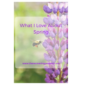 The Recovering Pessimist: What I Love About Spring. -- Spring is the gateway season to months of warm, long days. | www.therecoveringpessimist.me #amwriting #recoveringpessimist #optimisticpessimist