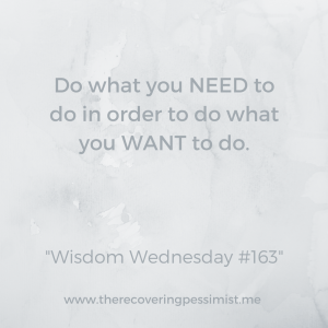 The Recovering Pessimist: Wisdom Wednesday #163 -- We all have dreams and aspirations but there are things we have to do in order to make our dreams and aspirations come true. | www.therecoveringpessimist.me #amwriting #recoveringpessimist #optimisticpessimist