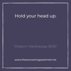 "The Recovering Pessimist: ""Wisdom Wednesday #255"" -- We endure rough patches and those rough patches can really break our spirit. It sounds impossible, but remember that these moments aren't forever. 