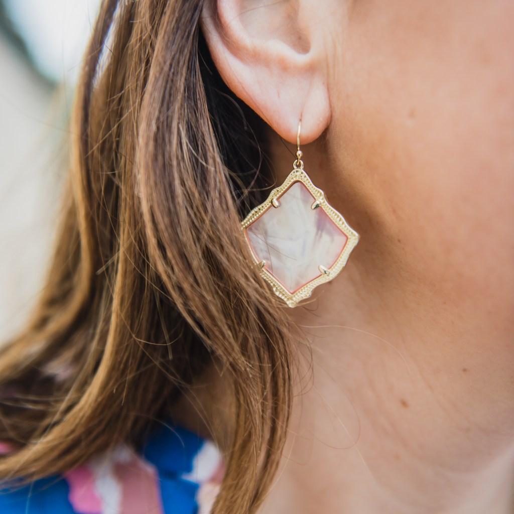 Kendra Scott Kirsten peach pearl earrings Spring 2019