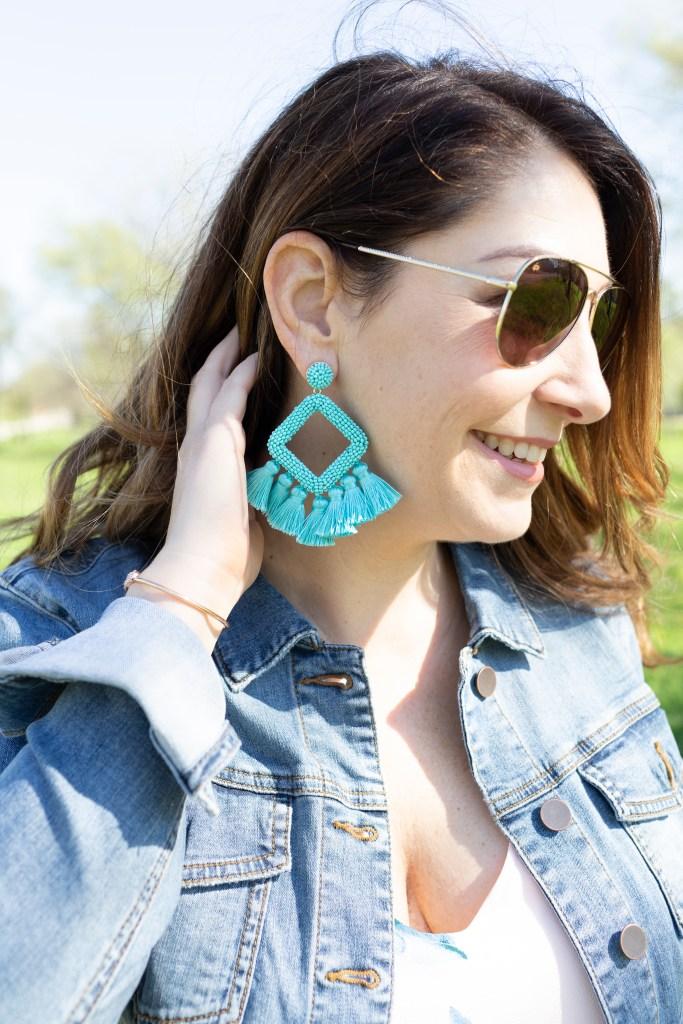 Spring 2019 Statement Earrings   #tasselearring #mintearring #blueearring #baublebar