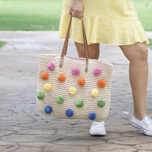 pom pom beach bag at Macys