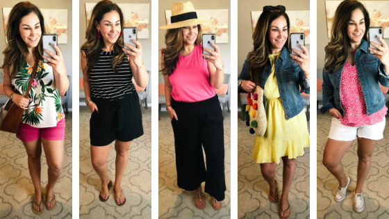 Vacation double duty outfits