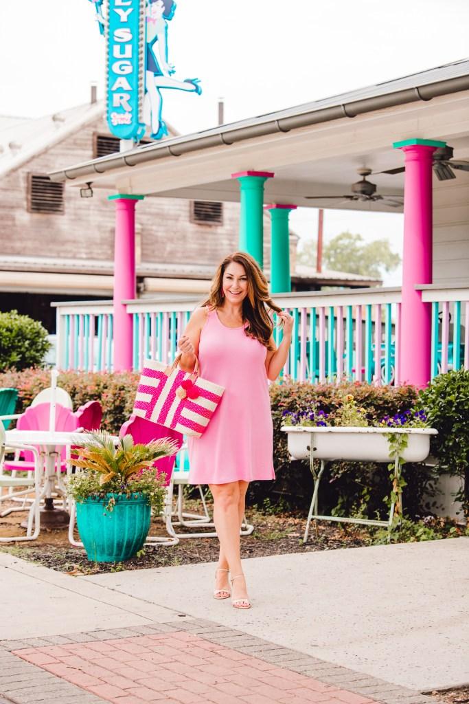 Soft pink dress perfect for summer. GibsonxHiSugarplum collection summer 2019