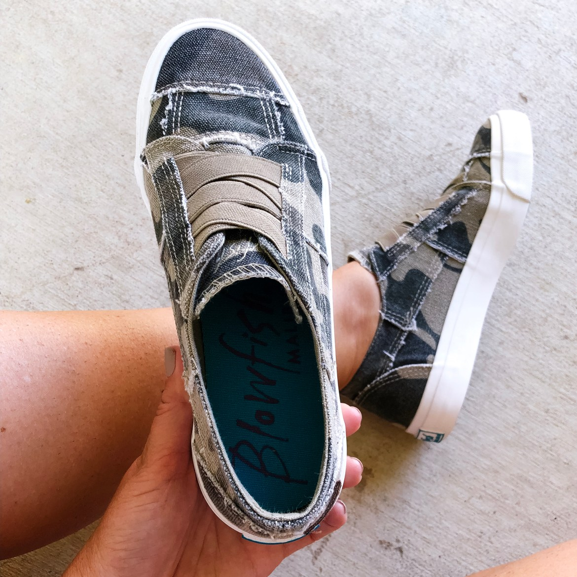 Great staples for fall- slip on shoes in camo!