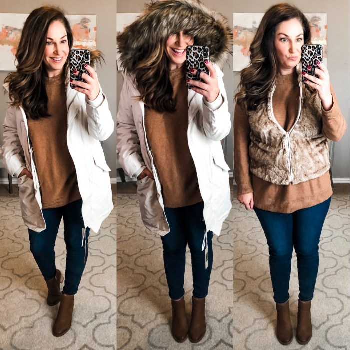 Cream Parka with fur hood- Abercrombie & Fitch 3 in 1 parka  #wintercoat #parka #coatwithfur #furhood #furvest