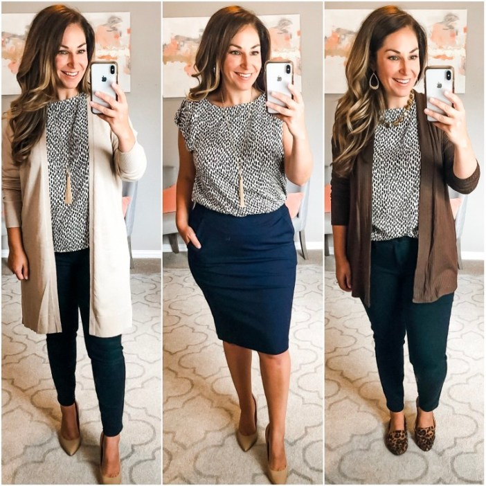 This top is from the Fall workwear capsule and with the buttons down the back it became an instant winner, but alas like many of the Target items it is now out of stock. Fit tips: tts, M