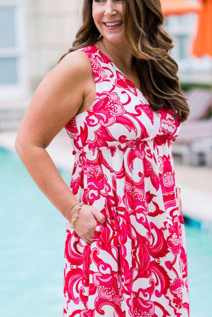 GibsonxHiSugarplum Resort Collection 2020 - Amalfi Maxi Dress Great for beach vacation, Spring Break and Resort. #springbreak #maxidress #maxidresswithpockets #longmaxidress #maxidressandwedges #kendrascott #KSSpring2020