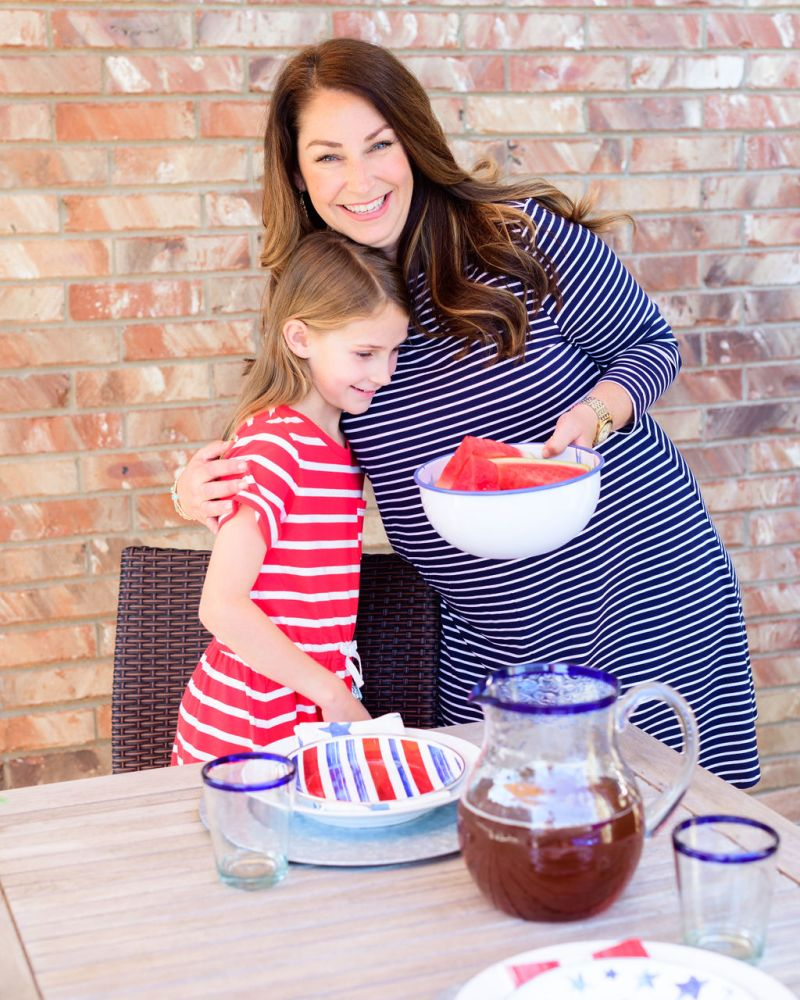 Summer Backyard Fun: Red, White & Blue style