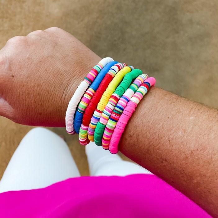 Set of 7 stretch bracelets from Amazon