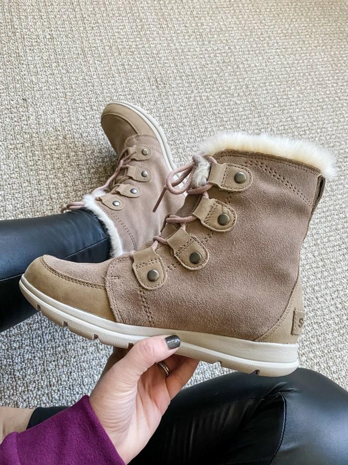 Sorel Explorer Boots in Ash Brown #sorel #sorelboots #winterboots
