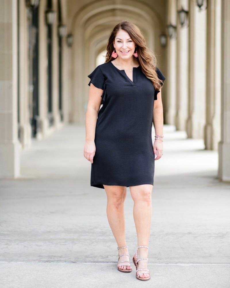 Gibsonlook Ryanne Ruffle Sleeve Dress | The Graduation Dress