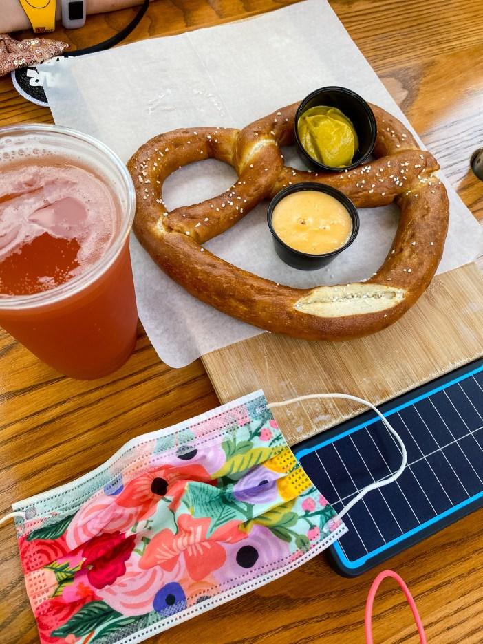 Disney World 2021   Baseline Tap House Pretzel & Beer