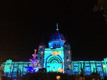 Royal Exhibition Building illuminated during White Night