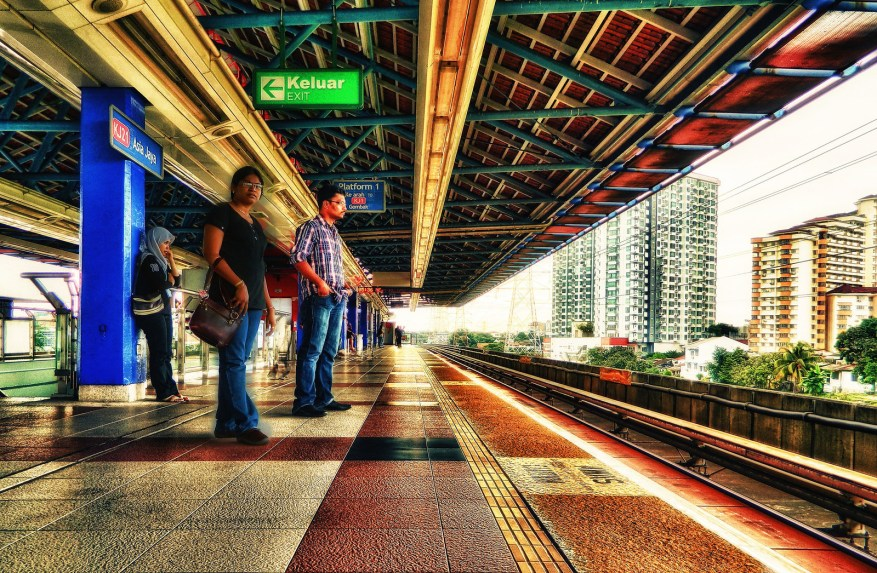 Asia jaya, metro station, irfan, hussain, thereddotman, the red dot man., HDR, High dynamic range, Nikon L120, Nik HDR EFEX