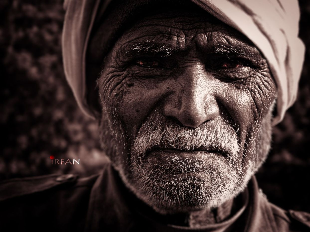 old man, black and white, portraits, irfan hussain, thereddotman, irfan, hussain