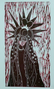BLACK MADONNA 7.1/2 x 11 Black Madonnas exist all over Europe and beyond. Some think she is connected to Black Isis......