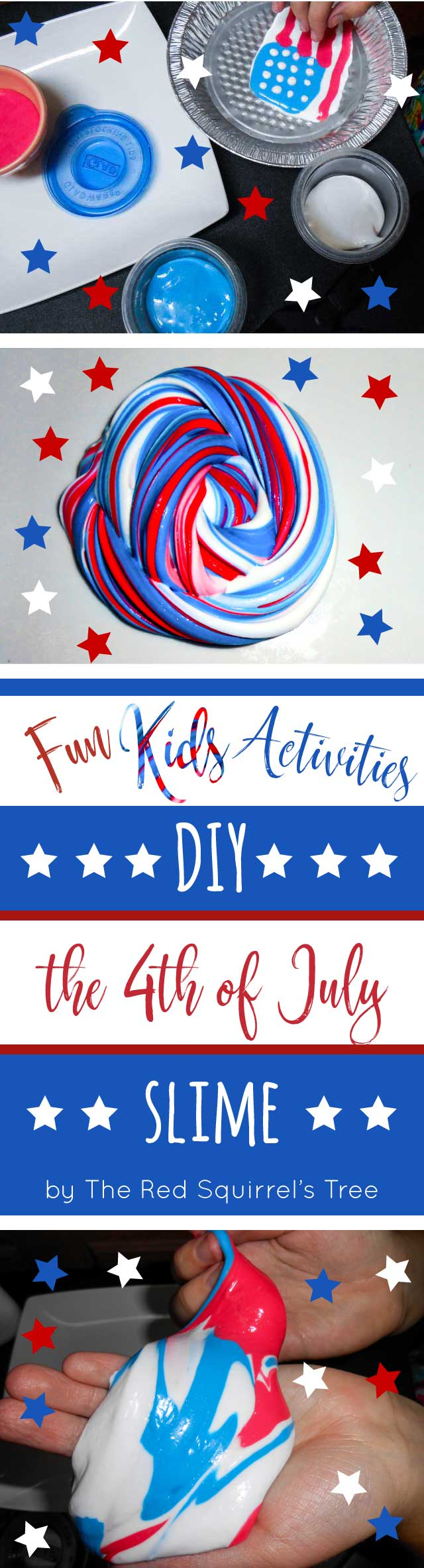 Slime DIY: quick and easy 4th of July project to bring even more fun to your Independence Day celebration!