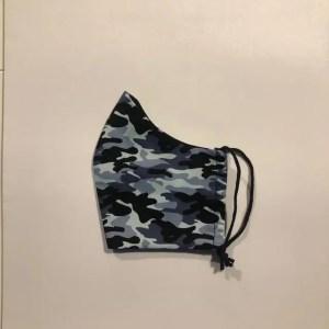 Mondkapje #Army print blauw