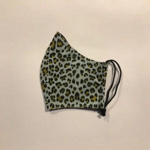 Mondkapje #Luipaard mintgroen