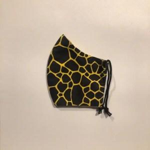 Mondkapje #Giraf zwart-geel