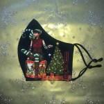 Mondkapje Kerst Elf Groot