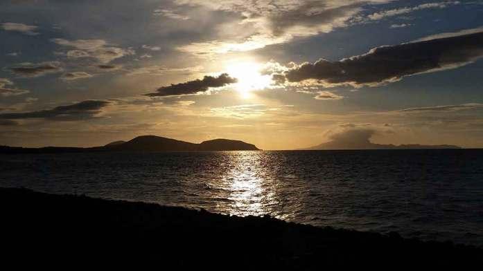 Wild Atlantic Way at the foot of Croagh Patrick in County Mayo Ireland