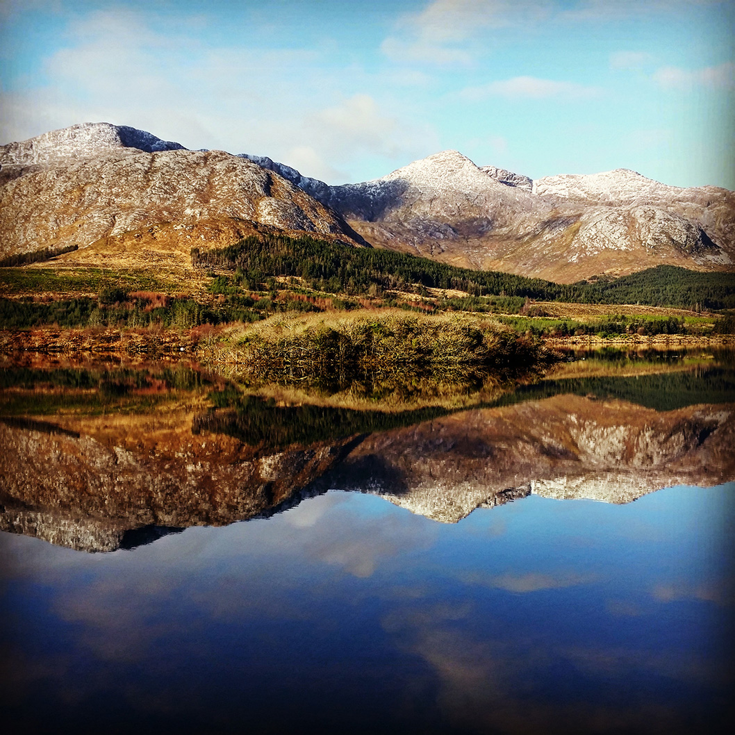 The Derryclare Horseshoe and Lough Inagh in Connemara, Ireland