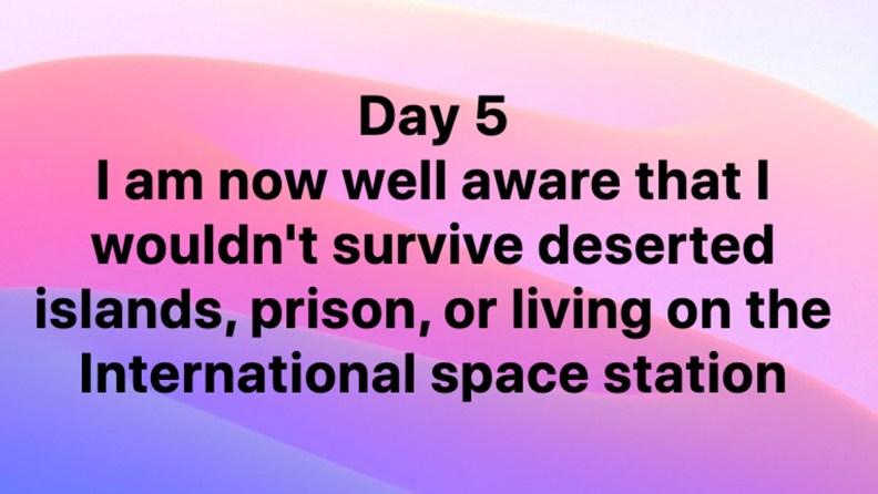 Day 5 Send Help
