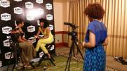 Founder Meah Denee filming an interview at ABFF of actress Tracee Ellis Ross