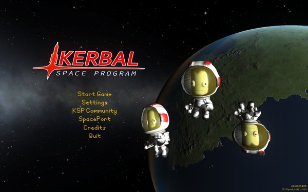 Kerbel Space Program Screenshot Wallpaper Title Screen
