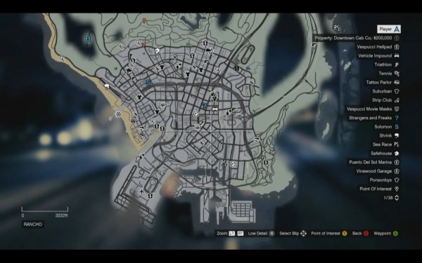 Grand Theft Auto V Screenshot Wallpaper Map