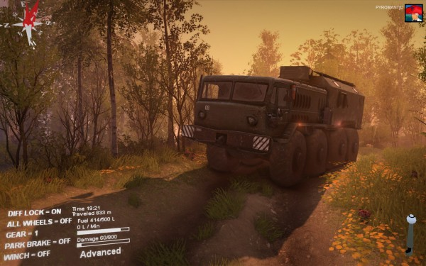 Spintires Review Screenshot Wallpaper Early Night Truckin