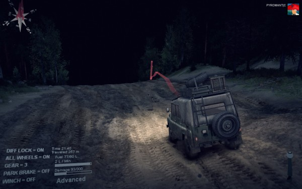 Spintires Review Screenshot Wallpaper Night Time Off Roading